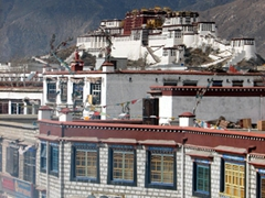 View of Potala as seen from the rooftop of Jokhang Temple
