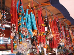A sampling of the many souvenirs available in the Barkhor district
