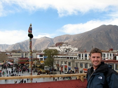 Robby and the Potala Palace...what a view!