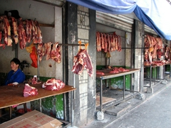 Meat market, foothills of the Potala Palace