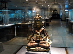 The Tibetan Museum has beautiful display cases showing off priceless relics