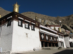 One of the many halls of the Sera Monastery