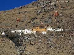 This portion of the Sera Monastery is raised high above the main section
