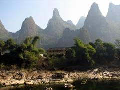 The gorgeous karst peaks are a magnet for tourists who flock to Guilin to take in its picturesque scenery