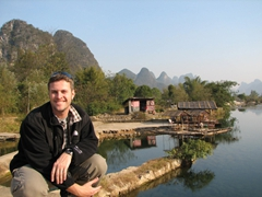 Robby is all smiles after our brief Yangshuo bike ride