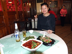 Becky agrees that spicy Sichuan is her favorite Chinese food after a delicious lunch at Yi Yuan