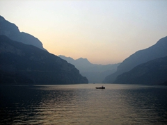 Sunset view of the Yangtze River