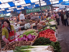 We really enjoyed our visit to the Wanxian market and wished we had more time to spend here