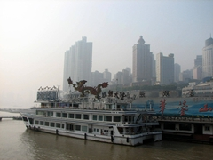 The Chongqing dock where our Yangtze River Cruise was drawing to an end