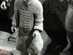 "Look at the amazing detail on the front ""vest"" of this terracotta warrior"