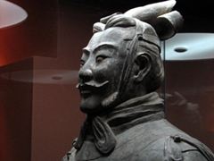 Visitors swarm the museum to admire the incredible detail of this warrior General