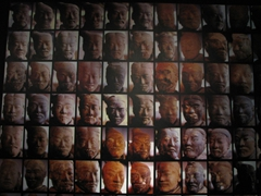 Portraits of the differing facial characteristics of the Terracotta Warriors