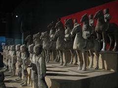 Miniature terracotta warriors; Shaanxi History Museum