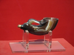 A rare bull's horn; Shaanxi History Museum