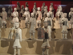 Frontal view of the terracotta figurines; Shaanxi History Museum