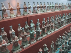 The Shaanxi Museum displayed hundreds of terracotta sculptures