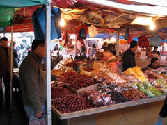 The Muslim Quarter's busy markets are a great place to buy snacks, dried fruits, and spices