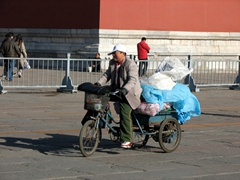 This is a popular mode of transport to carry heavy goods across Beijing