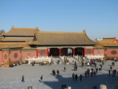 Most of the buildings standing in the Forbidden City today were built in the 1700s and onward (due to the numerous fires that burnt down the original 15th Century structures)