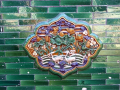 Colorful tile work; Forbidden City