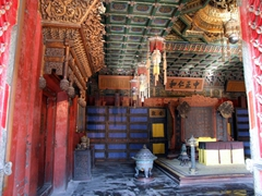 The throne rooms of the Forbidden City were richly decorated