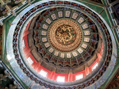 Ornately carved dome; Forbidden City
