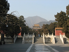 The Ming Tombs were built at the base of this hill, 27 meters beneath the ground