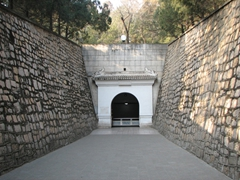 We exited out of the underground Ming Tombs here