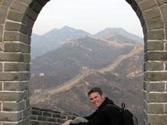 Robby stops to admire the view; Badaling Great Wall