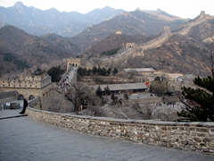 Visiting the Great Wall during the winter season was a super cold experience!