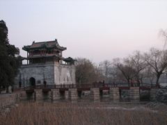 Winter has descended on the Summer Palace, hence the rather forlorn look