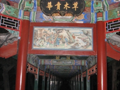 The 700 meter Long Corridor is decorated with mythical scenes throughout; Summer Palace