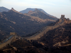 Dramatic, sweeping vistas of the Great Wall