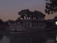 This marble boat graces the northern edge of Kunming Lake