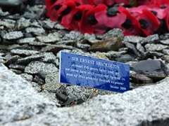This sign says it all...RIP Sir Ernest Shackleton; Grytviken cemetery