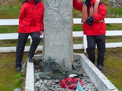 At the burial site of the world's greatest leader; Sir Ernest Henry Shackleton