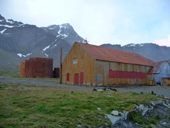 Rusted remains of Grytviken Whaling station. At its zenith, Grytviken could process up to 25 fin whales, each about 60 feet long, in 24 hours