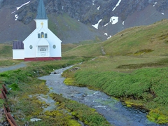 The Grytviken Whaling Station Norwegian Church was built in 1913