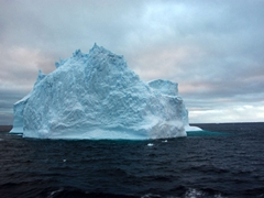 Iceberg seen in the Scotia Sea on the way to the South Orkneys