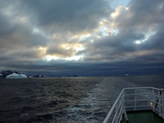 Pretty view of the Scotia Sea from the deck of the Polar Star