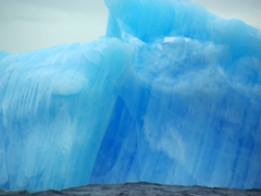 Close up detail of the blue iceberg; Scotia Sea
