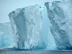 Massive walls of a tabular iceberg; Scotia Sea