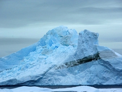 Icebergs surrounding Paulet Island have interesting formations and colors
