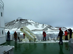 Early morning view of Paulet Island from the deck of the Polar Star