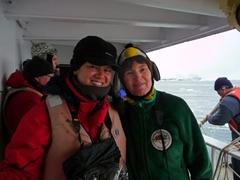 Becky and Gail Cheeseman at Cierva Cove