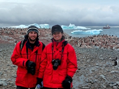 Enjoying the gentoo penguins of Cuverville