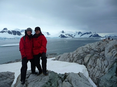Striking a pose on Petermann Island, home to the world's southernmost colony of Gentoo Penguins