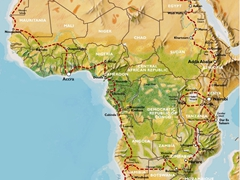 Map of 40 week TransAfrica overland trip