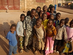 Kids posing for the camera in Kita; Mali