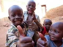 The kids of Bobo are super friendly and love posing for tourists; Burkina Faso